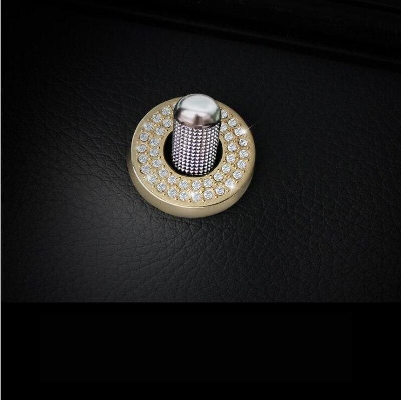 4 pcs Chrome Car Accessories Door bolt Lock Ring Cover Trim sticker For Mercedes Benz C E class GLC W205 W213 X253 Car-Styling