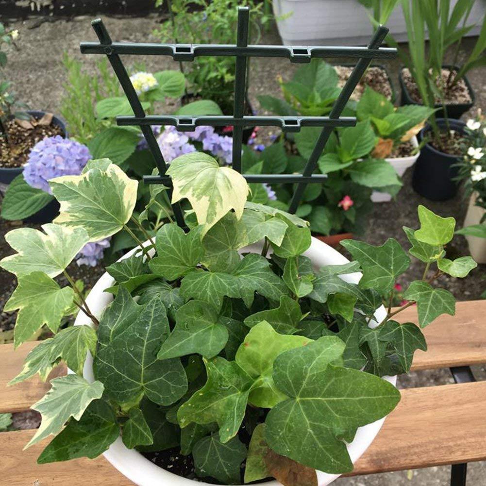 2pcs DIY Plastic Plant Support Frame Pot Bracket Shelf Climbing Flower Fixed Plant Growth Direction For Garden Vines Fastener