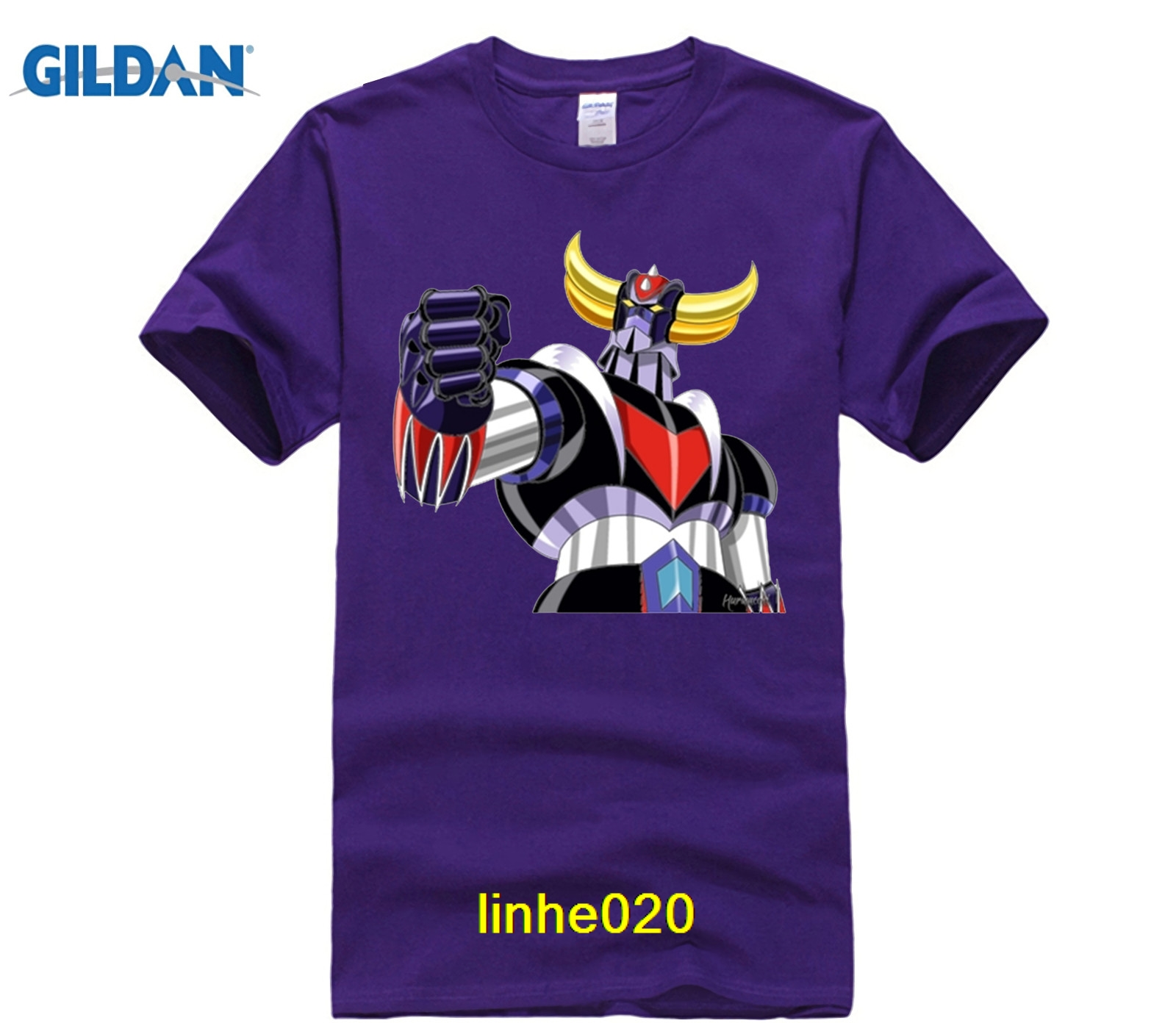 fdcbf4e129d GILDAN customised t-shirts UFO Robot Grendizer T Shirt Man s 100% Cotton Short  Sleeve Crew Neck Tshirt Teens Costume