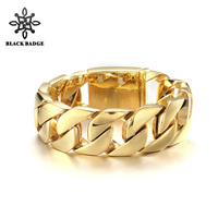 Curb Cuban Link Chain Stainless Steel Bracelet Men Hip Hop Simple Style Gold/Silver Color Jewelry Stainless Steel Bio Elements