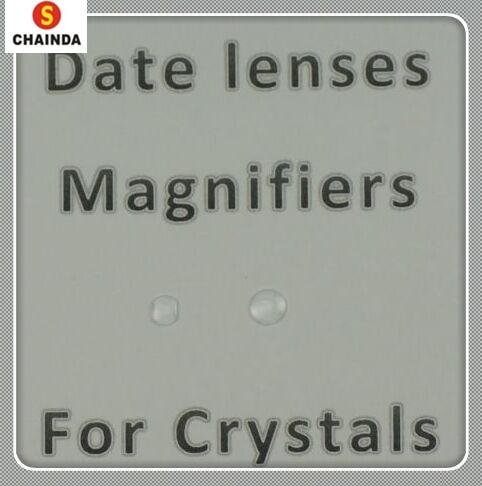 Lupa para Janela de Data Relógio em Cristais Cola em Cristal Frete Grátis Bolha Mineral Lens 50 Pcs