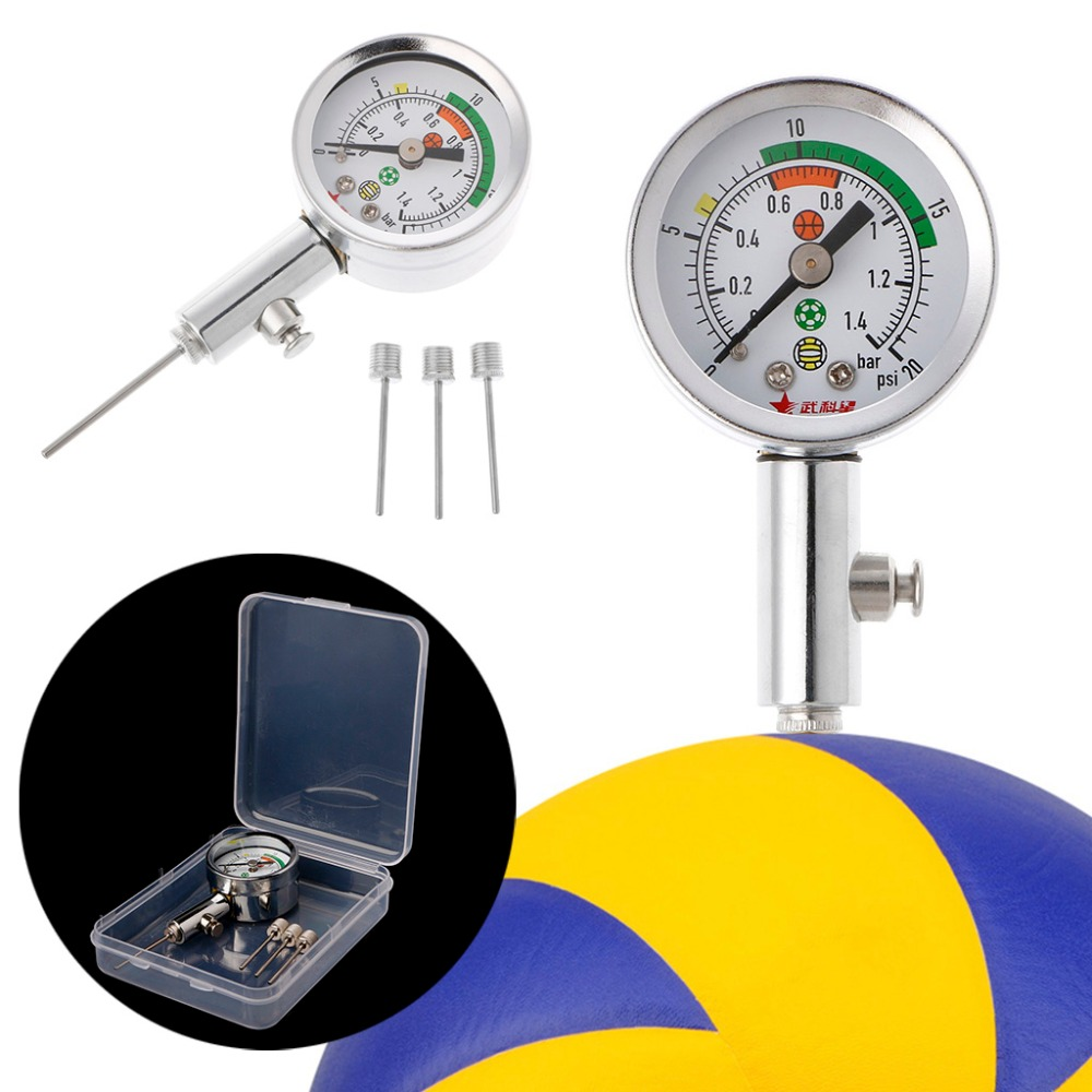 Soccer Ball Pressure Gauge Air Watch Football Volleyball Basketball Barometers W15