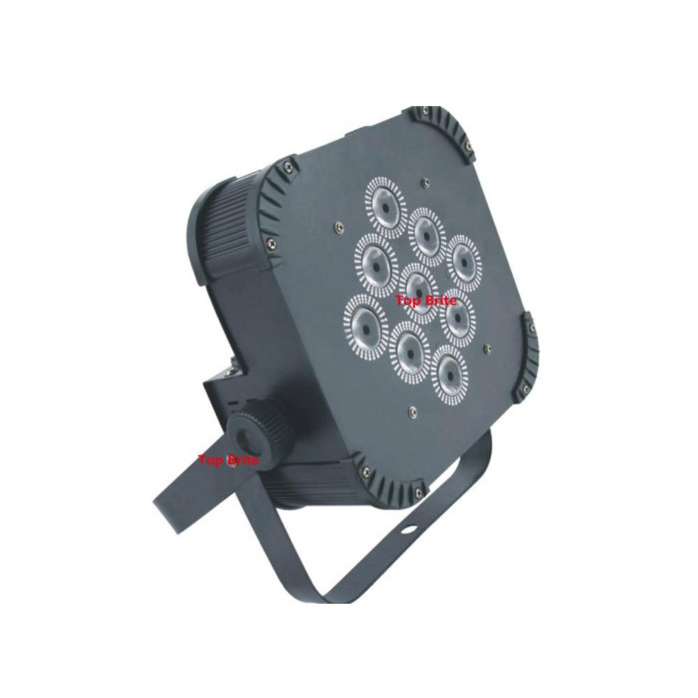 4 Stks / partij Gratis Verzending 9X15 W RGBWA 5IN1 LED Platte Par - Commerciële verlichting - Foto 3