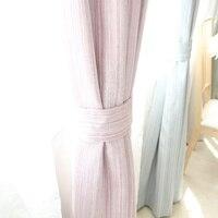 Пользовательские занавес современный простой затенение одноцветное утолщаются хлопка прямой линией спальня гостиная др. плотные занавеск