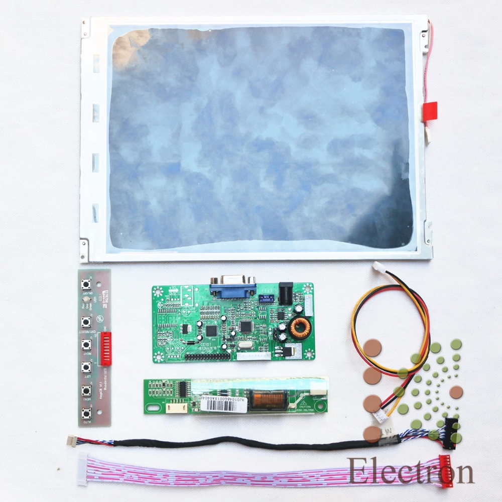 VGA LCD controller board B.RTMC1B kit and 10inch TM100SV-02L02 800x600 lcd panel New vga 2av revering driver board 8inch 800 600 lcd panel ej080na 05b at080tn52