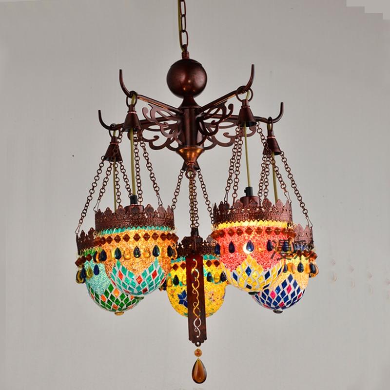Юго Восточной Азии подвесной светильник богемный творческая личность подвесной светильник турецкий бар Интернет кафе настольная лампа