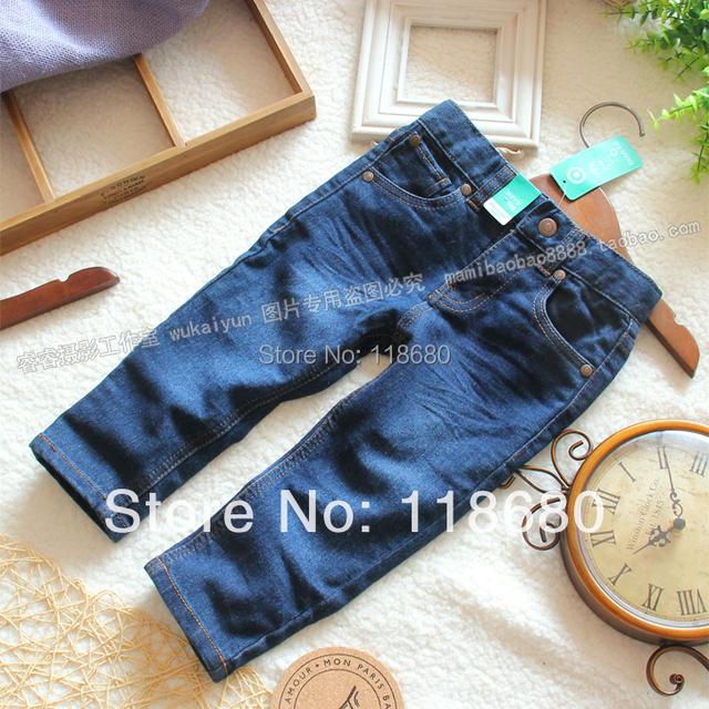 Frete grátis primavera outono crianças jeans calças jeans meninos e meninas roupas de bebê criança all jogo casual calças