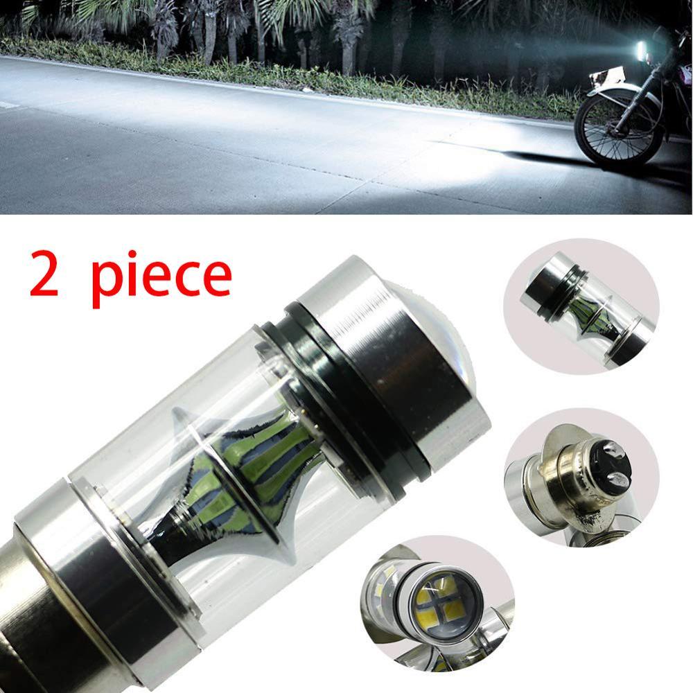 100W Super White LED Headlights Bulbs Low High Beam For Yamaha RAPTOR 350 700 RHINO GRIZZLY 125 350 400 450 660 YFZ350 YFZ450