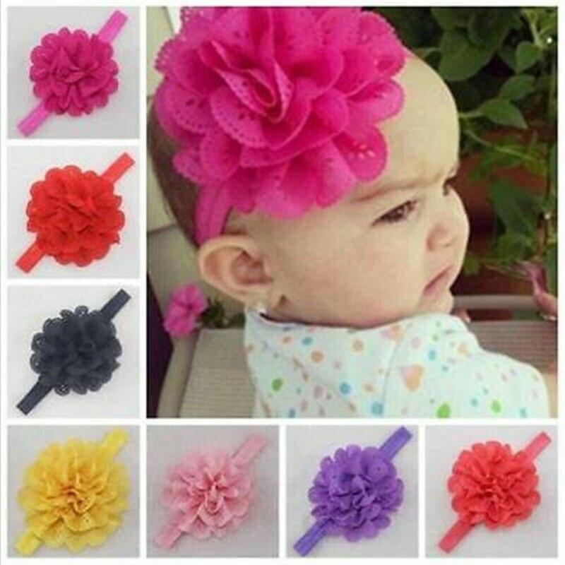 2019 New Baby Cotton Big Bow Flower Headband Infant Newborn Girl Toddler Hair Accessory Bowknot Bandage Turban Tiara