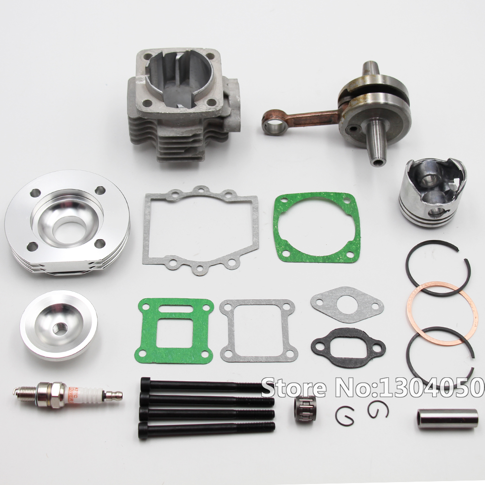 High Performance 44mm Big Bore Top End Kit 49cc 2 Stroke Mini ATV Quad Dirt Pocket Bike New 44mm cylinder piston spark plug gasket big bore kit for 47cc 49cc 2 stroke mini dirt bike mini atv quad pocket bikes mini moto