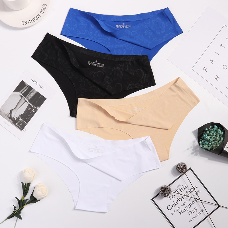 Panties   Seamless Briefs for Women Underwear Cute Comfortable Bikini Ladies Invisible Traceless   Panty   Girls Sexy Lingerie 3 pcs