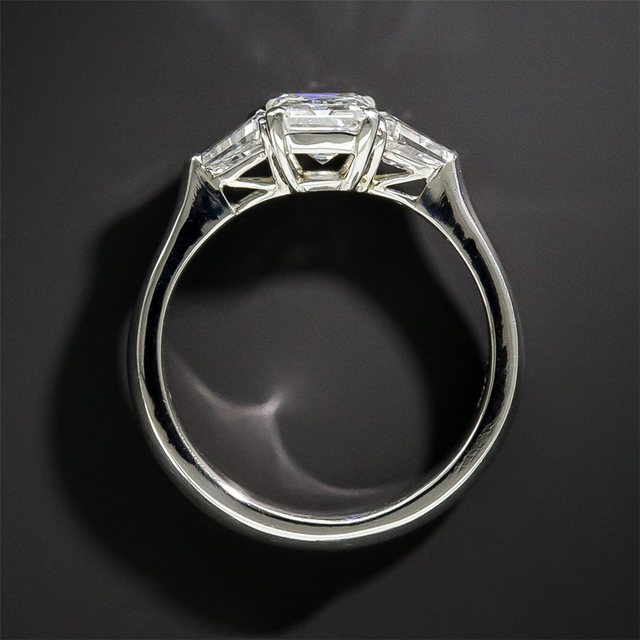 14K White Gold 1CT Lab Grown Diamond Engagement Wedding Ring