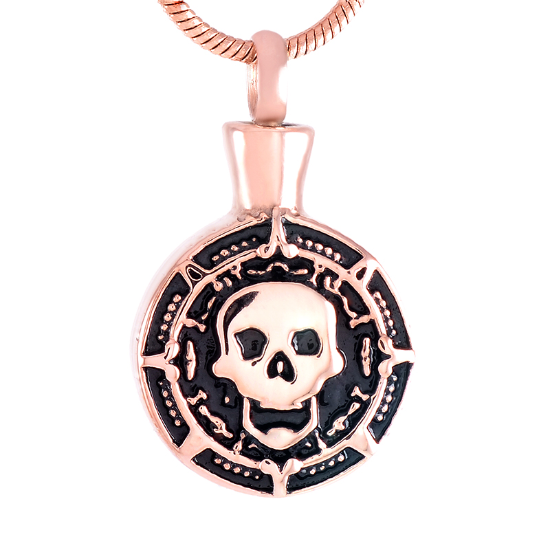ILJ9498 серебристый, золотой, розовый, черное покрытие Spade кулон держать человеческие/ПЭТ пепел Цепочки и ожерелья Нержавеющаясталь кремации ...