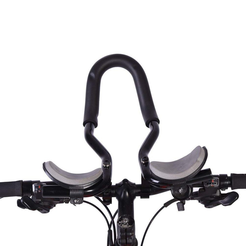Bicycle Rest Handlebar Aluminum Alloy Parts Arm Relax Handlebar Mountain Road Longdistance Riding Black U Type Cycling Handbar Attractive And Durable