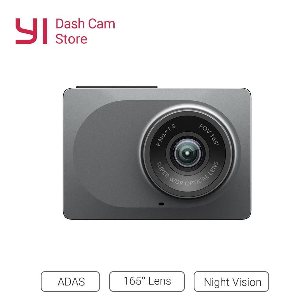 YI Smart Auto Kamera WiFi Dash DVR Recorder Mit Nacht Vision165 Grad ADAS Dash Cam 1080 p 60fps Auto Kamera registrator
