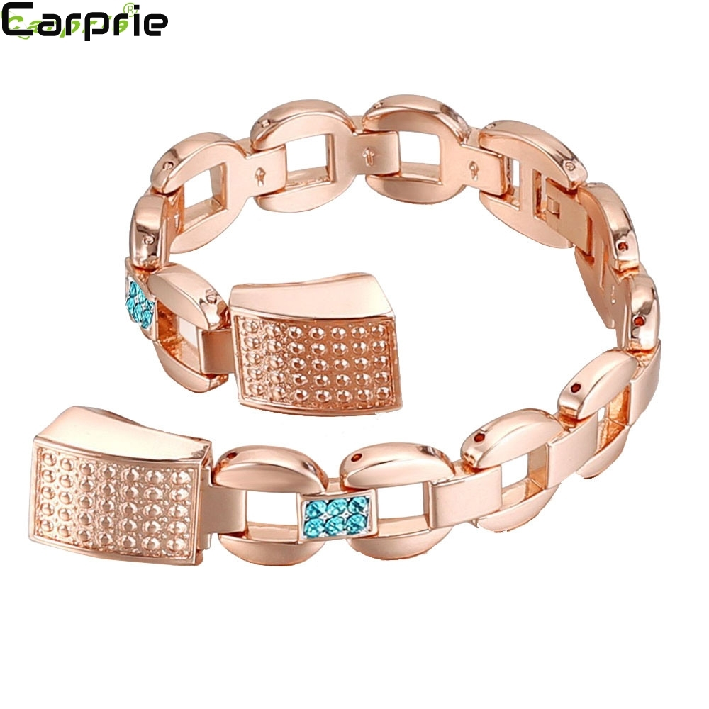 Factory price ! 4 colors Crystal Stainless Steel Watch Band Wrist strap For Fitbit Alta Smart Watch TOP quality 2mar21