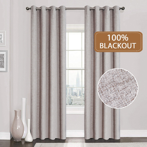 Image 1 - Linen 100% Blackout Curtains For Kitchen Bedroom Window Treatment  Solid Water Proof Curtains for Living Room Custom Made