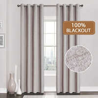 Linen 100% Blackout Curtains For Kitchen Bedroom Window Treatment Solid Water Proof Curtains for Living Room Custom Made