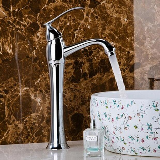 new arrival high quality stainless steel chrome finished bathroom high sink faucet basin mixer tap movado 0606928
