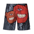 Men's Personality shorts printed quick drying beach shorts dark gray board shorts sea shorts funny novelty streetwear