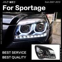 AKD Car Styling Head Lamp for Kia Sportaeg Headlights 2007 2013 Sportage LED Headlight LED DRL Hid Bi Xenon Auto Accessories