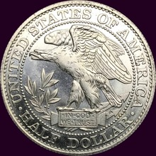 United Stated 1877 Morgan Half Dollar Plated Silver Copy Coin