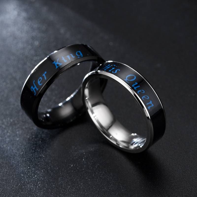 Inteligentes Smart Ring Lovers Couples Gifts Rings Temperature Valentine's Day Birthday Intelligent Jewelry Smart Women MenRing