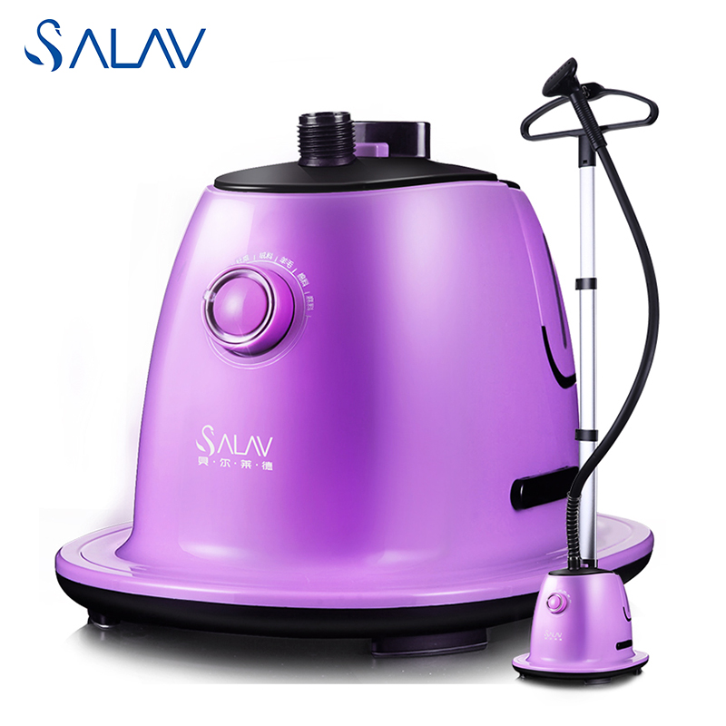 ФОТО SALAV GS72-BJ Vertical Garment Steamer for Clothes 1500W 1.7L 360D Swivel Hanger Stable widened Pole 6 Accessories