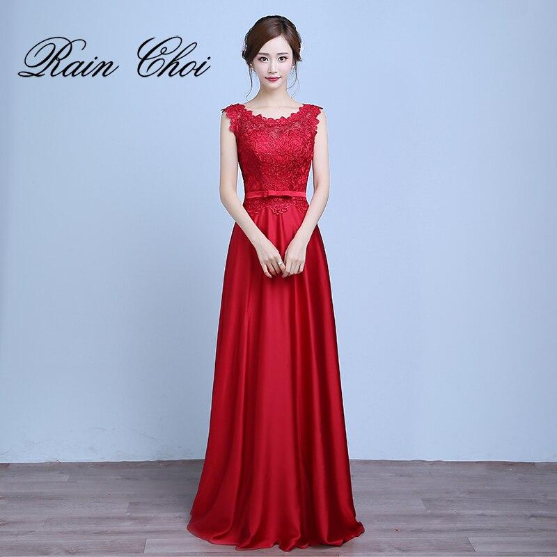 Formal Evening Dresses 2018 Vestido De Festa A Line Lace Up Back