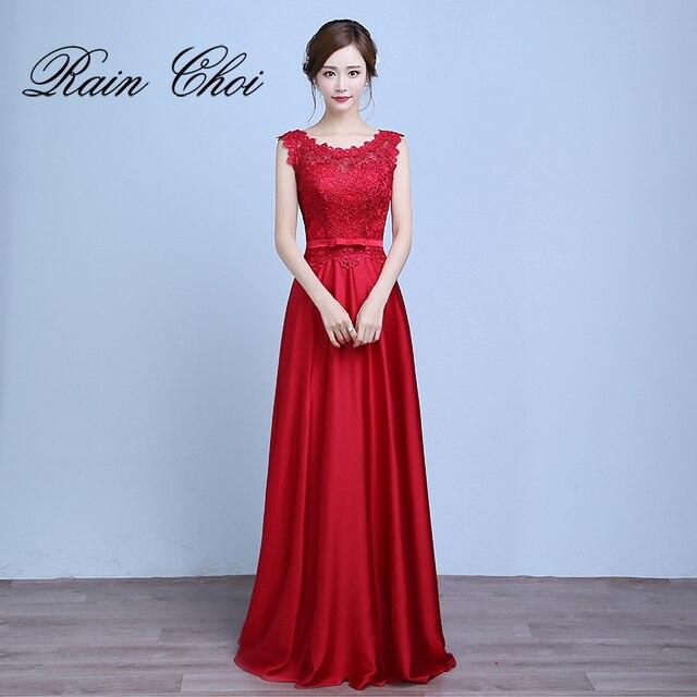 formal evening dresses 2019 Vestido de Festa A-line Lace Up Back Formal Party Gown