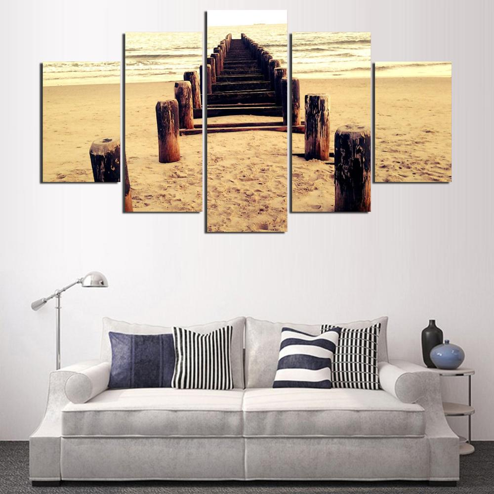 5 Panel Canvas Painting Wall Art Oil Poster Wall Pictures