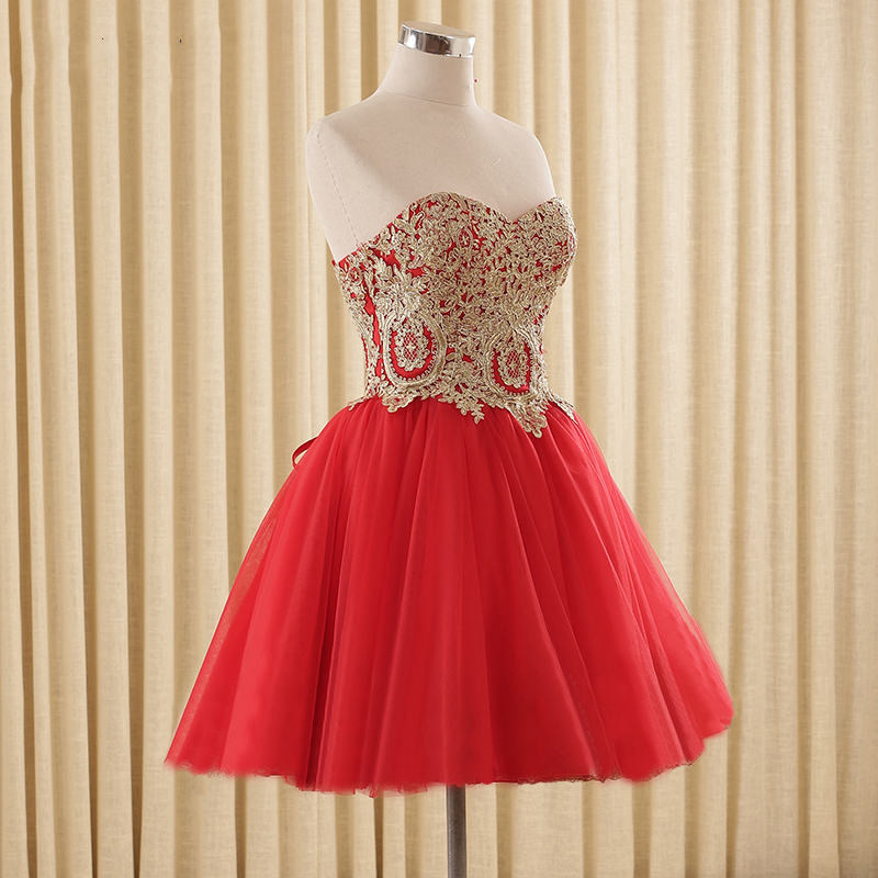 Tulle Lace Short Prom Dresses Evening Dress Girl Lovely Club Prom ...