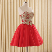 Tulle Lace Short Prom Dresses Evening Dress Girl Lovely Club Prom Party Gown Lace up Red Champagne Black Vestidos De Noche 2017