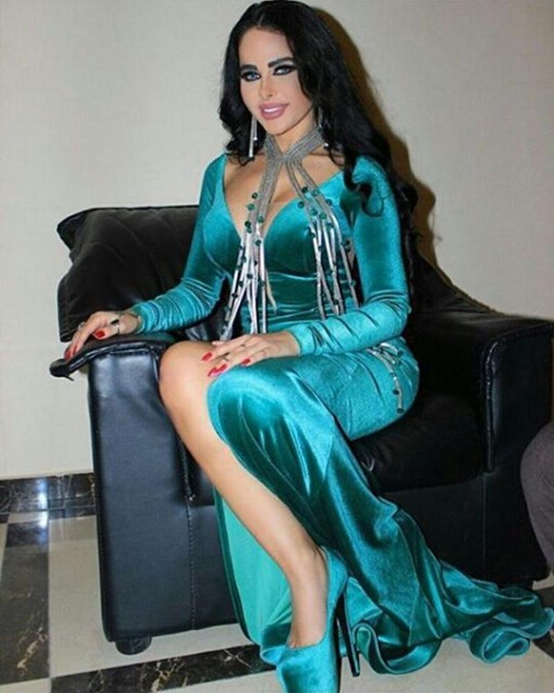 2016 Sexy Peacock Blue Evening Dresses Long Sleeve V Neck