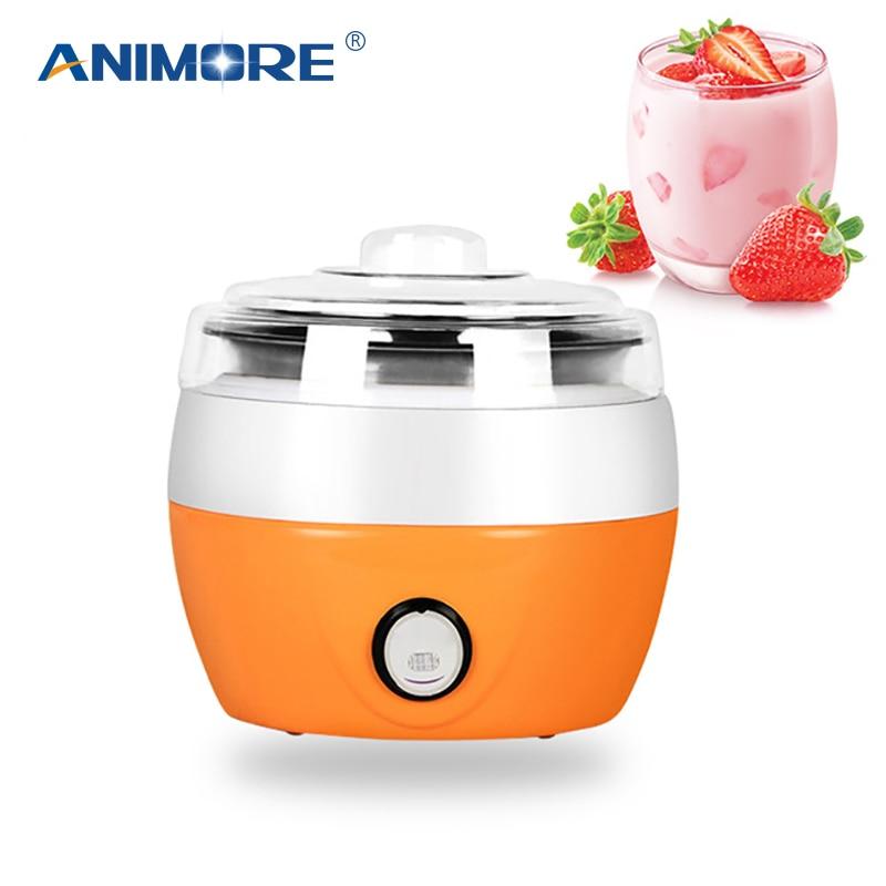 ANIMORE:  ANIMORE Electric Yogurt Maker Yoghurt DIY Tool Kitchen Appliances Automatic Liner Material Stainless Steel Yogurt Maker YM-01 - Martin's & Co