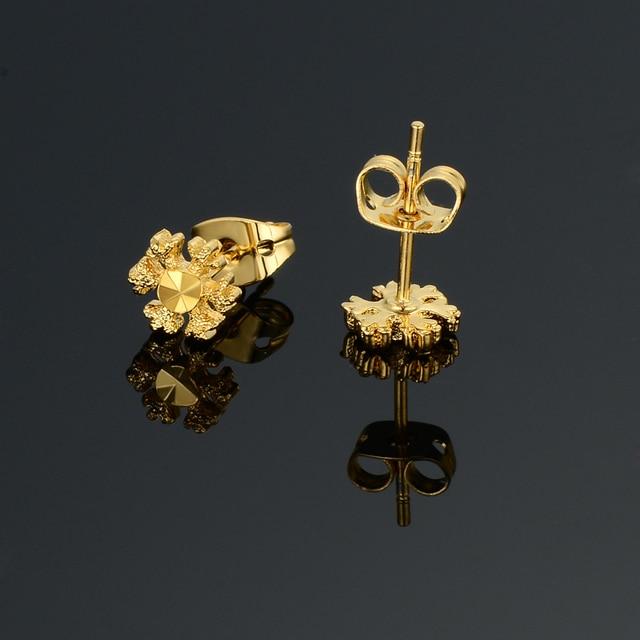 Brand Fashion Wedding Gold Stud Earrings Women Color Mini Lovely Golden Earring Jewelry Female Gift