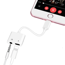 2in1 Charger Splitter Cable Fast Charging Adapter Original Chip Audio Charge For Lightning for iPhone X 7 8Plus MAX BF07