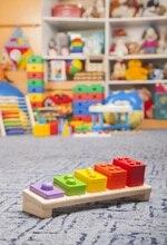 Laeacco Crianças Prateleira de Brinquedos Educativos Lego Crianças Backdrops Para Estúdio de Fotografia Fotografia Fundos Fotográficos Personalizados