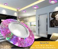3W LED Downlight Modern Living Room Recessed Colorful Led Panel Light For Home Hotel KTV Decorative