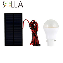 1pcs/lot 0.8W Solar panel 2W LED bulb LED Solar Lamp Solar Power LED Light Outdoor Solar Lamp Spotlight Garden Light