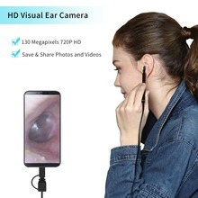 USB  Android Type-c Camera Earpick 3 in 1 Ear Cleaning Endoscope HD Visual Spoon Functional Diagnostic Tool Cleane