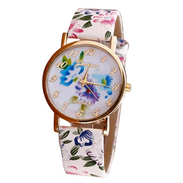 Zegarek damski GENEVA wiosenne kwiaty różne wzory