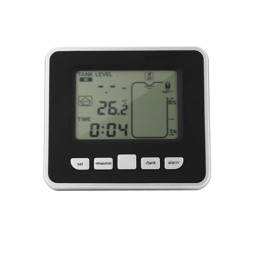 Capteur ultrasonique sans fil de mètre de niveau de profondeur de réservoir d'eau avec l'affichage de la température avec l'affichage de LED de 3.3 pouces - 4