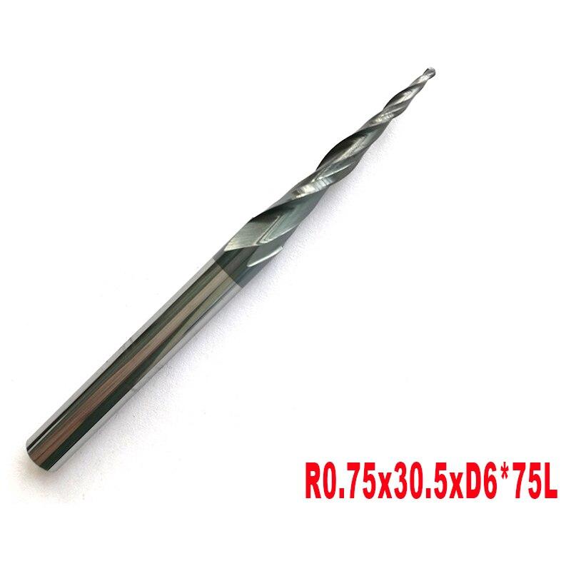 1 шт. 6 мм хвостовик 2 флейты HRC55 Вольфрам твердосплавные конические концевые фрезы и конический резак