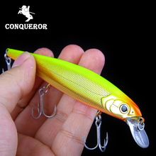 Retail Conqueror hot model fishing lures hard bait different colors for choose 125mm 16g minnow,quality professional minnow new arrivals sealurer hot model fishing lures 13cm 19g swimbait jointed bait minnow 5 different colors crank minnow bait