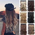 "Neverland 22"" 55cm Women Curly Clip In Hair Extensions One Piece 3/4 Full Head Long Wavy Curly Hair Extension Hairpieces B10"