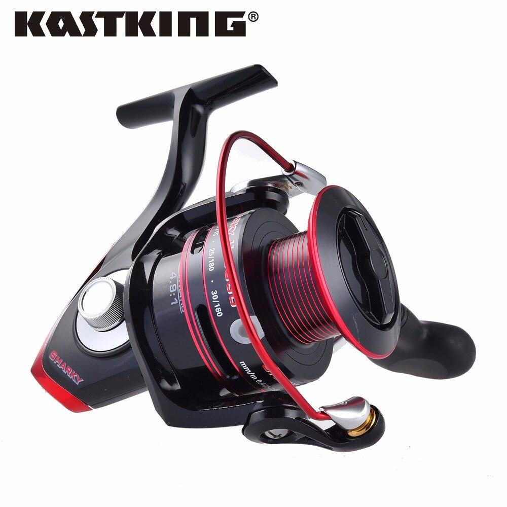 ФОТО KastKing Sharky II 4000 Series 100% Waterproof Larger Spool Spinning Reel 317g Lighter Stronger Sea Boat Fly Fishing Reel Wheel
