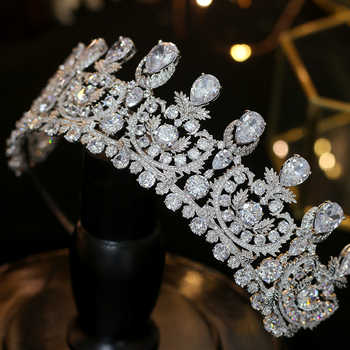 2018 New Arrivals Zircon Wedding Tiaras Crystals Bridal Tiaras Queen Crowns Hair Jewelry Wedding Crown Hair Accessories - DISCOUNT ITEM  40% OFF All Category