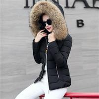 Black Winter Jacket Women Elegant Ultra Large Fur Collar Down Cotton Padded Jacket Women S Plus