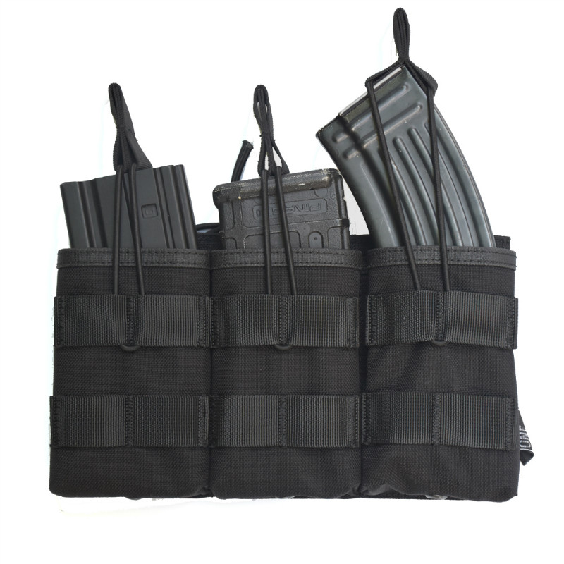 OneTigris Tactical MOLLE Triple Open-Top Magazine Bolso FAST AK AR M4 FAMAS Mag Pouch Airsoft Equipo de paintball militar